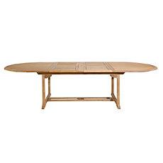 Table ovale à allonge en teck 10...