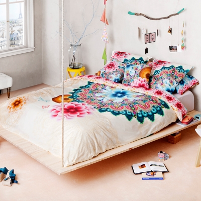 housse de couette percale mandala desigual. Black Bedroom Furniture Sets. Home Design Ideas