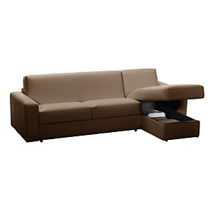 Canapé d'angle convertible cuir Marcello