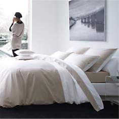 Taie d'oreiller percale Memory BLANC DES...