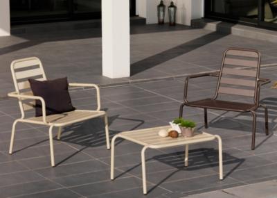 Lot de 2 fauteuils lounge alu. OCEO Menu  , coloris au choix