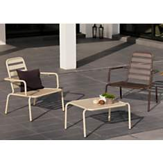 Lot de 2 fauteuils lounge alu. OCEO Menu