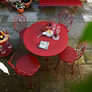 Ensemble table ronde et 4 chaises  Montm