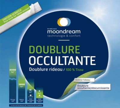 Doublure occultante universelle pour  rideau MOONDREAM