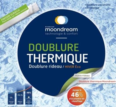 doublure thermique hiver eco moondream with rideau phonique moondream. Black Bedroom Furniture Sets. Home Design Ideas