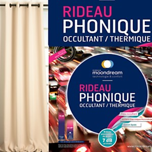 Rideau phonique occultant thermique  MOONDREAM