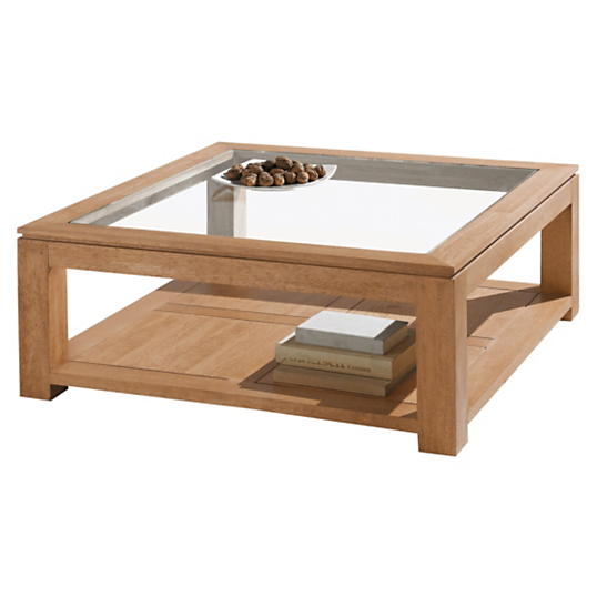 Table basse carr e natha s - Table basse carree bois et fer forge ...