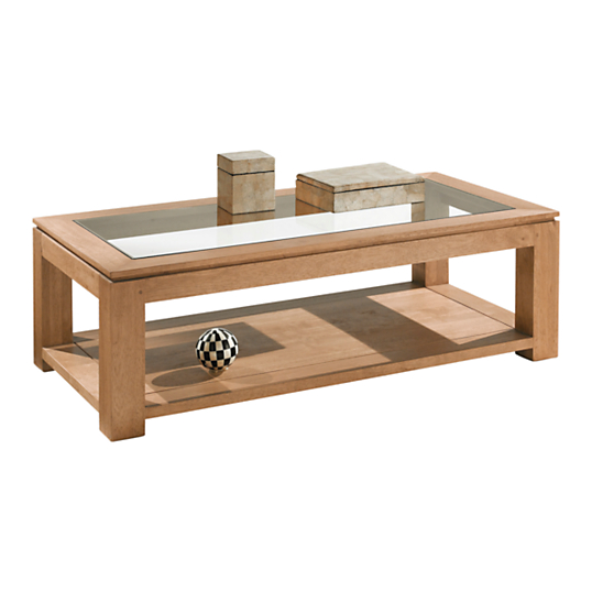 Table basse rectangulaire natha s for Table de salon bois et verre
