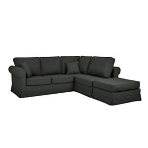 Canapé d'angle tissu coton lin N...