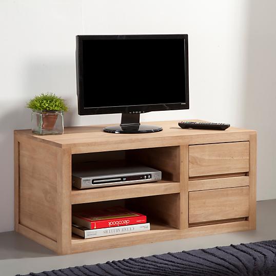 Meuble tv 90cm 2 tag res 2 tiroirs norden - Meuble tv grande longueur ...