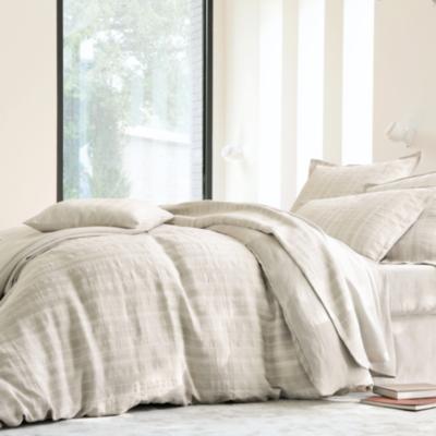 parure de lit coton lin n pal blanc des vosges. Black Bedroom Furniture Sets. Home Design Ideas