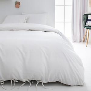 Parure de lit à nouettes Nöd Blanc