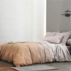 Taie percale Nomade Ocre BLANC DES  VOSG...