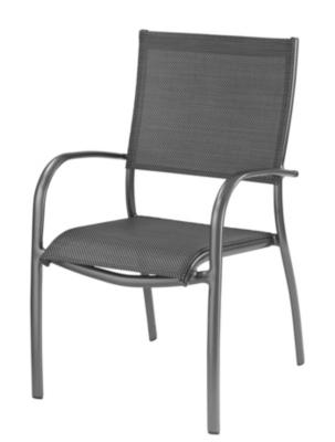 Lot de 2 fauteuils empilables OCEO  Elégance, aluminium/textilène