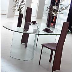 Table verre Opale