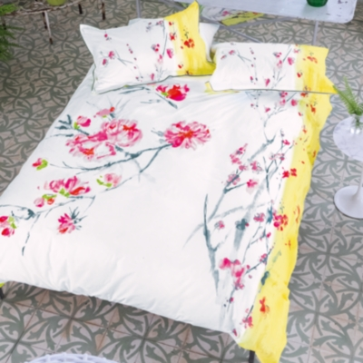 Taie satin Oriental Flower DESIGNERS  GUILD