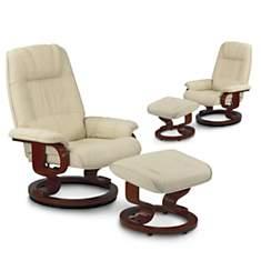 Lot de 2 fauteuils relaxation cuir Camaï