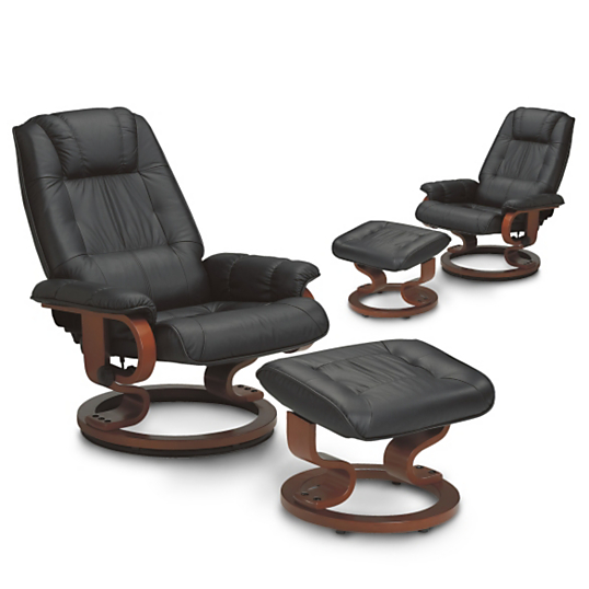 Lot de 2 fauteuils relax cuir cama eu - Fauteuil de salon relax ...