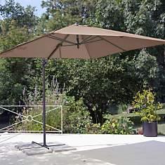 Parasol déporté carré 2.5 x 2.5 m  Pro L