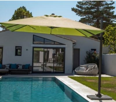 parasol d port 3x3 alu. Black Bedroom Furniture Sets. Home Design Ideas