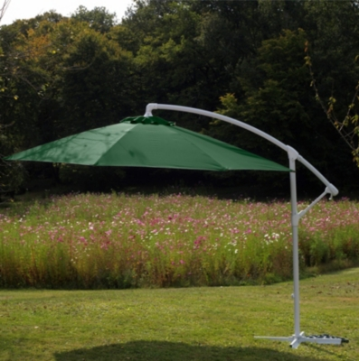 Parasol déporté 300/8 fibre de verre  5 coloris au choix