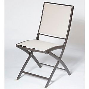 Lot de 2 chaises pliantes KENEAH  marron/lin