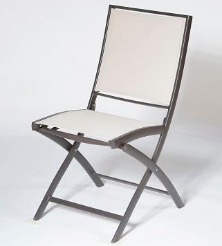 Lot de 2 chaises pliantes KENEAH  marron/lin