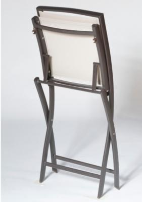 lot de 2 chaises pliantes keneah marron lin. Black Bedroom Furniture Sets. Home Design Ideas