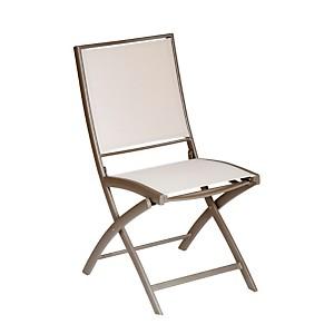 Lot de 2 chaises pliantes KENEAH  muscade/lin