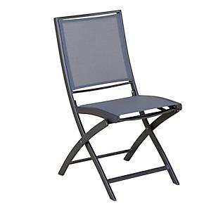 Lot de 2 chaises pliantes KENEAH gris