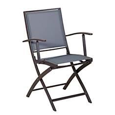 Lot de 2 fauteuils pliants KENEAH gris