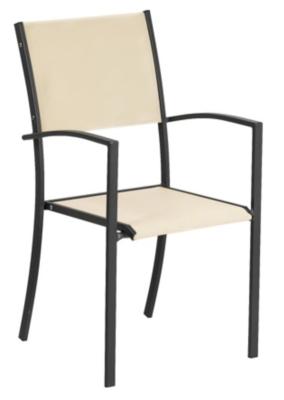 Lot de 2 fauteuils Piazza anthracite/ Batyline