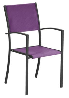 Lot de 2 fauteuils Piazza  anthracite/Batyline