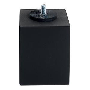 Jeu de 4 pieds carrés noir MERINOS, 10