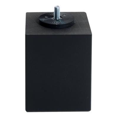 Jeu de 4 pieds carrés noir MERINOS, 10  cm