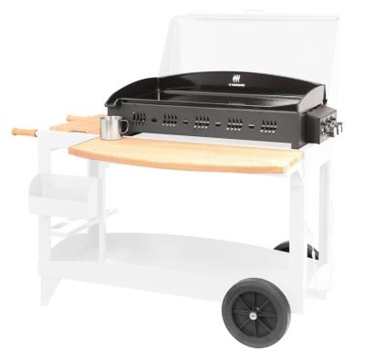 plancha gaz avec chariot et couvercle good plancha lx. Black Bedroom Furniture Sets. Home Design Ideas