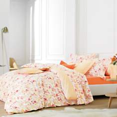 Parure de lit percale Poème Paprika  BLA