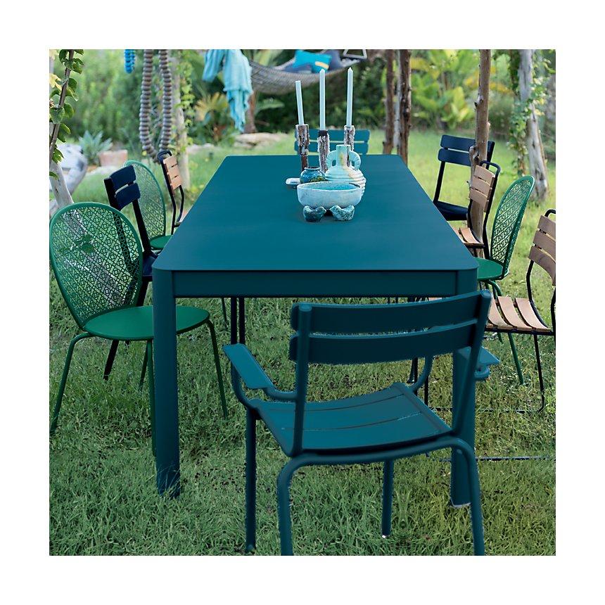 Table XL Ribambelle avec 3 allonges FERMOB