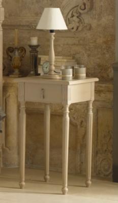 Chevet 1 tiroir Louis XVI blanc