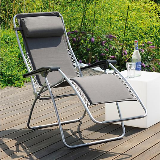 Lot de 2 fauteuils relax lafuma rsx ardoise for Fauteuil relax exterieur lafuma