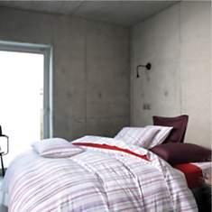 Parure de lit satin Roscoff Groseille  B