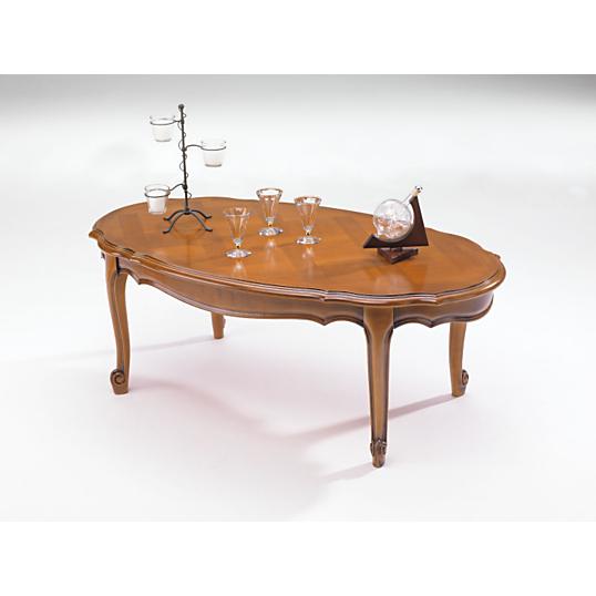 table basse ovale savignac merisier. Black Bedroom Furniture Sets. Home Design Ideas