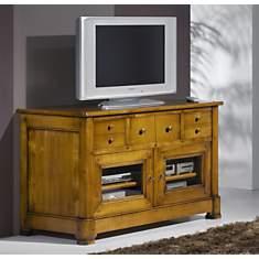 Meuble TV Solène 2 portes, merisier