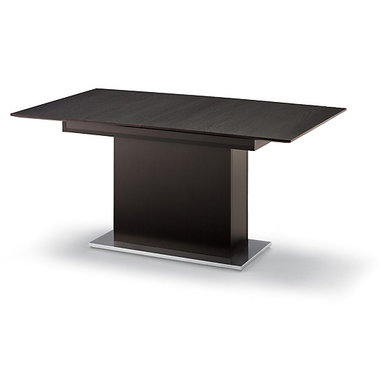 Table pied central avec allonge sole - Table rectangulaire pied central ...