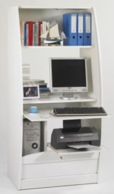 Meuble multim dia solo 80 cm blanc meuble for Meuble multimedia
