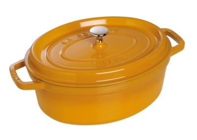 Cocotte ovale STAUB 31 cm moutarde