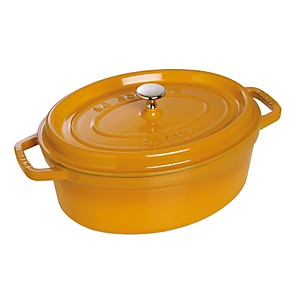 Cocotte ovale STAUB 31 cm moutarde