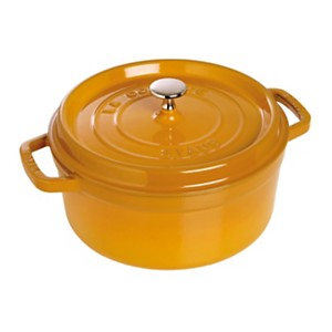 Cocotte  ronde STAUB 28 cm moutarde