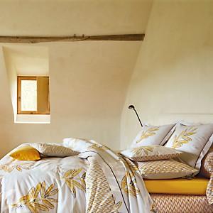 Parure de lit percale Saint Rémy Soleil  BLANC DES VOSGES