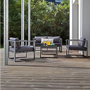 Ensemble 1 canapé, 2 fauteuils et 1  table basse Manhattan PRO LOISIRS